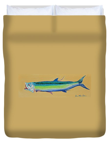 Yellow Tarpon Duvet Cover
