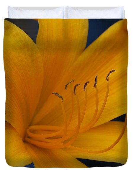 Yellow Tiger Lilly Duvet Cover