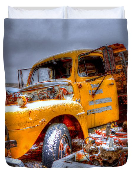 Yellow Truck Duvet Cover