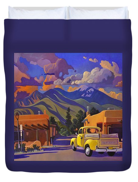 Yellow Truck Square Duvet Cover