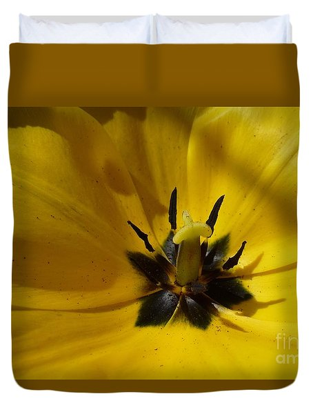 Yellow Tulip 1 Duvet Cover