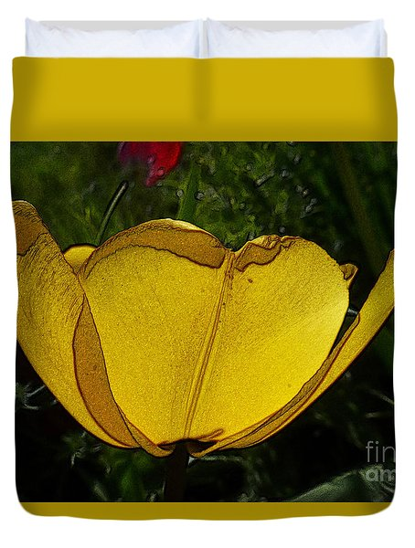 Yellow Tulip 2 Duvet Cover