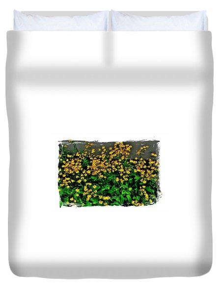 Yellow Wildflowers Duvet Cover by Marsha Heiken