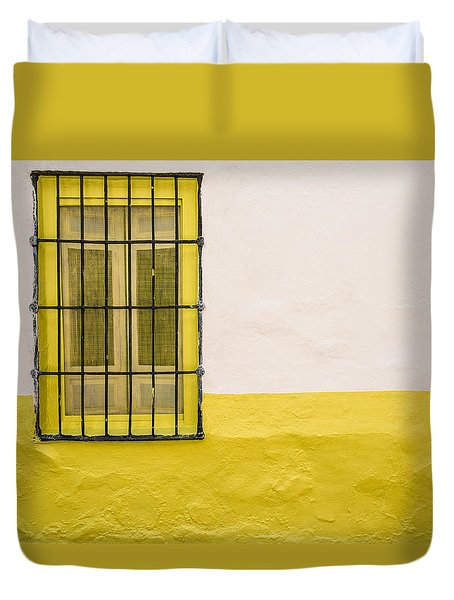 Yellowed Wall Duvet Cover