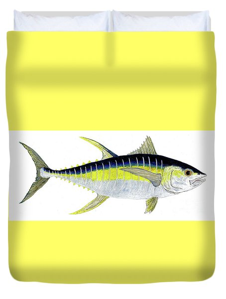 Yellowfin Tuna Duvet Cover