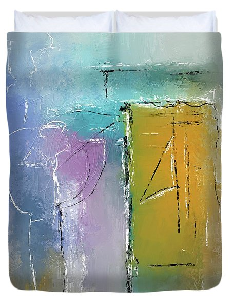 Yellows And Blues Duvet Cover