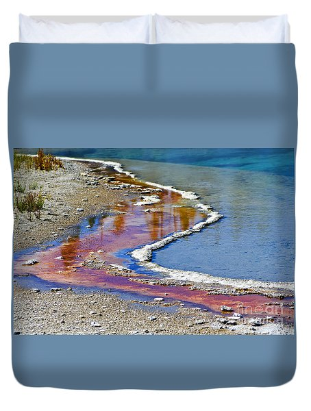 Yellowstone Abstract I Duvet Cover by Teresa Zieba