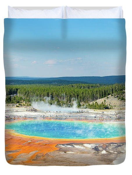Yellowstone Grand Prismatic Spring  Duvet Cover