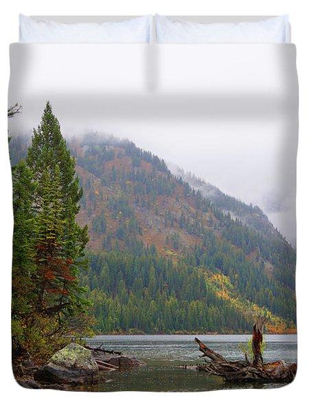 Yellowstone Lake Fall Duvet Cover