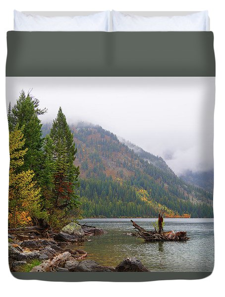 Yellowstone Lake Fall Duvet Cover