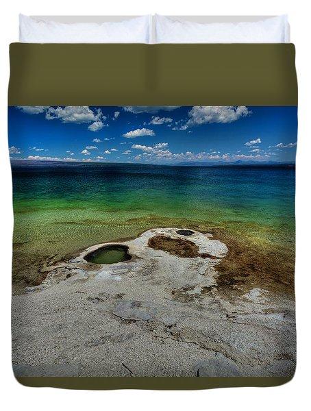 Yellowstone Lake Duvet Cover