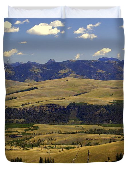 Yellowstone Landscape 2 Duvet Cover by Marty Koch