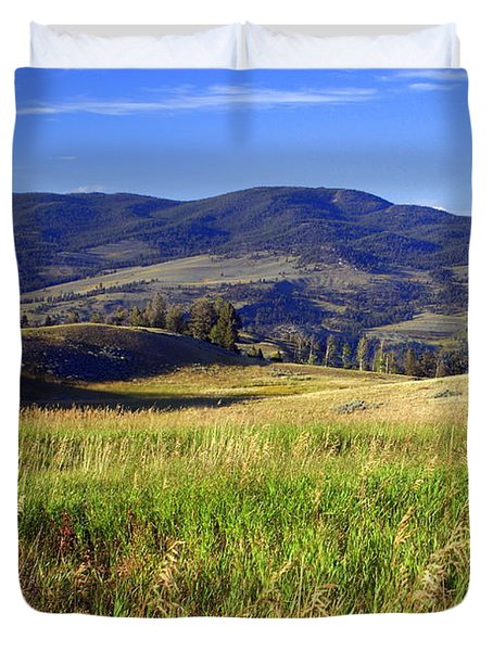 Yellowstone Landscape 3 Duvet Cover by Marty Koch