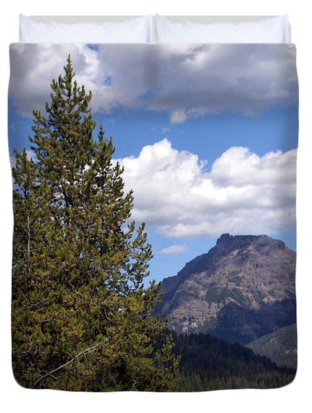 Yellowstone Landscape Duvet Cover by Marty Koch