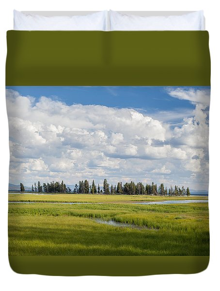 Yellowstone Meadow Duvet Cover