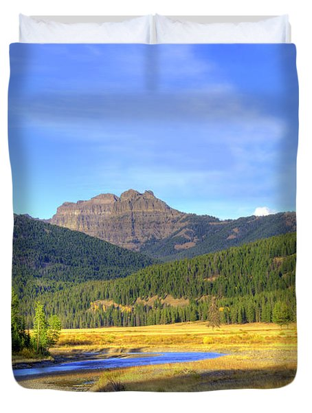 Yellowstone National Park Landscape Duvet Cover