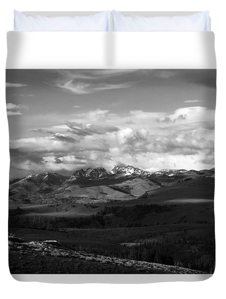 Yellowstone National Park Scenic Duvet Cover