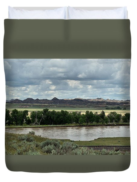 Yellowstone River After The Storm Duvet Cover