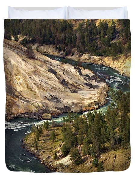 Yellowstone River Canyon Duvet Cover by Marty Koch