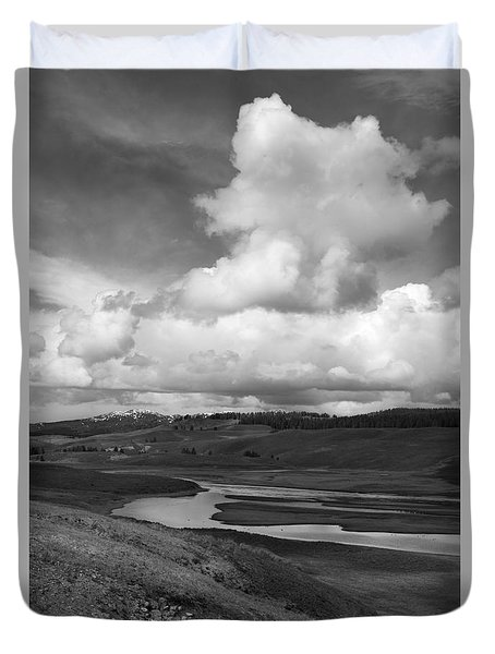 Yellowstone River Duvet Cover