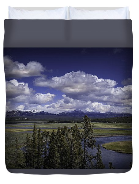Duvet Cover featuring the photograph Yellowstone River by Jason Moynihan