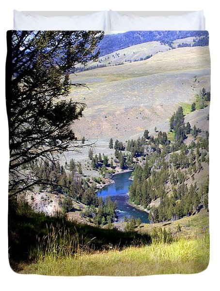 Yellowstone River Vista Duvet Cover by Marty Koch