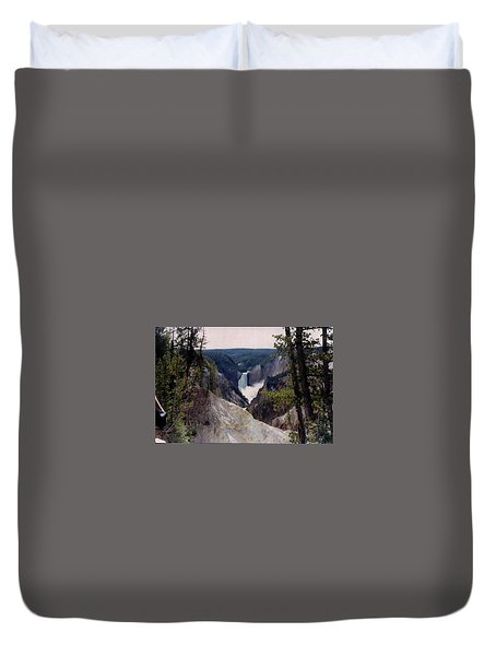 Yellowstone Water Fall Duvet Cover