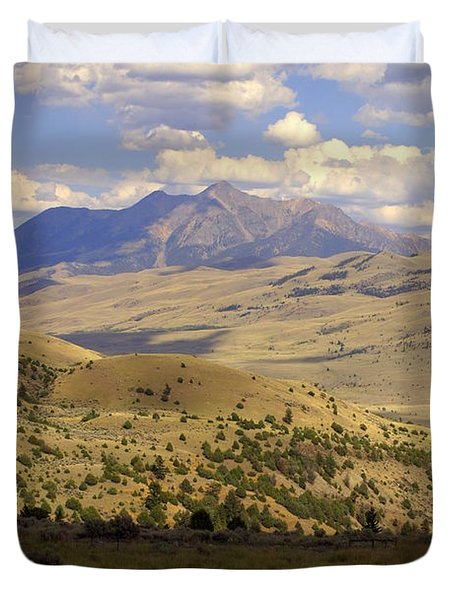 Yellowstone View Duvet Cover by Marty Koch
