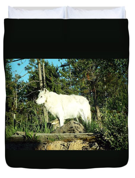 Yellowstone Wolf Pack Member Duvet Cover