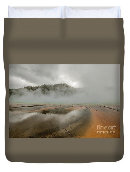 Duvet Cover featuring the photograph Yellowstone's Beauty by Sue Smith