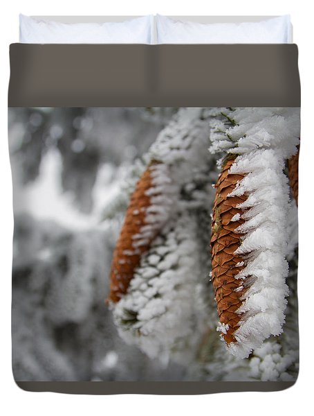 Yep, It's Winter Duvet Cover by Andreas Levi
