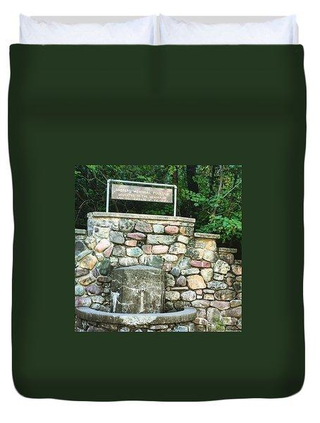 Shepherd Fountain Duvet Cover