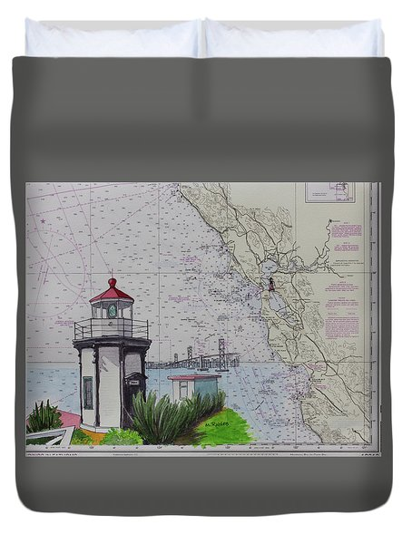 Yerba Buena Island Lighthouse Duvet Cover