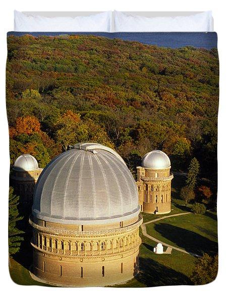 Yerkes Observatory - Aerial View - Lake Geneva Wisconsin Duvet Cover