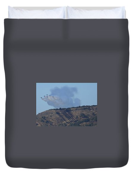 Duvet Cover featuring the photograph Yes Baby, Angels Do Make Shadows by John King