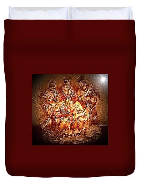 Yeshu'a  Duvet Cover by Carlos Avila