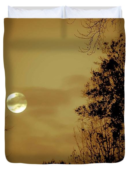 Yesteryears Moon Duvet Cover