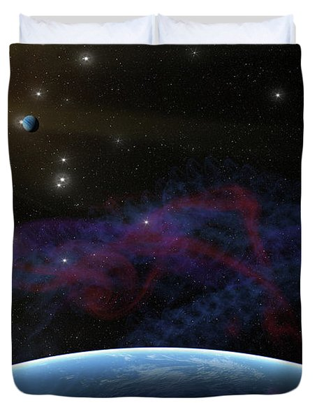 Yet Seen Places Duvet Cover by James Heckt