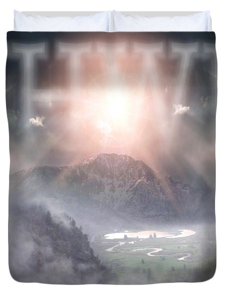 Yhwh Duvet Cover by Bill Stephens