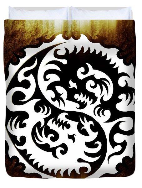 Yin Yang By Sarah Kirk Duvet Cover