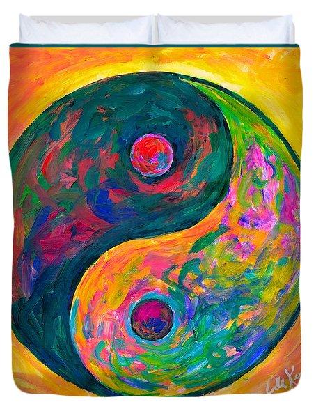 Yin Yang Flow Duvet Cover