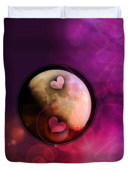 Ying Yang Hearts Duvet Cover