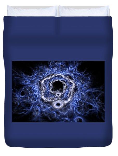 Duvet Cover featuring the digital art Ylium by Michal Dunaj