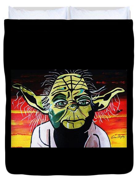Yoda  Come Home Duvet Cover by Nora Shepley