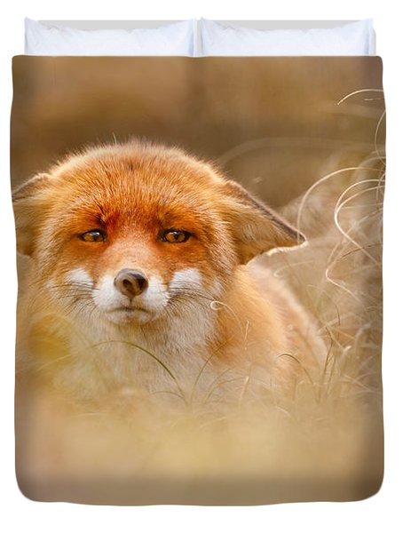 Yoda - Funny Fox Face Duvet Cover