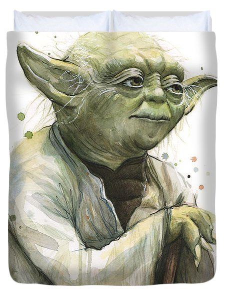 Yoda Watercolor Duvet Cover