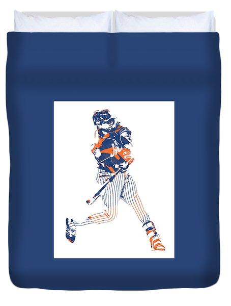 Yoenis Cespedes New York Mets Pixel Art 2 Duvet Cover