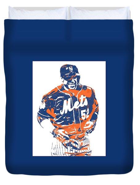Yoenis Cespedes New York Mets Pixel Art 3 Duvet Cover