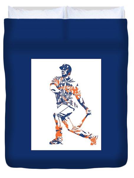 Yoenis Cespedes New York Mets Pixel Art 4 Duvet Cover