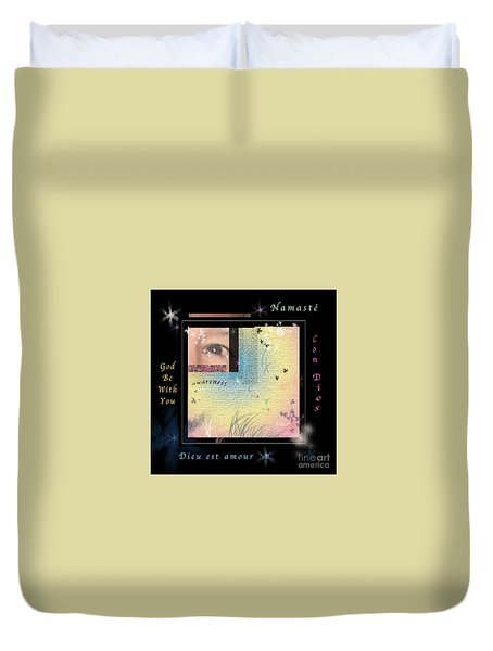 Duvet Cover featuring the photograph Yoga Creativity And Awareness by Felipe Adan Lerma